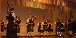 Kirkistown pipe band